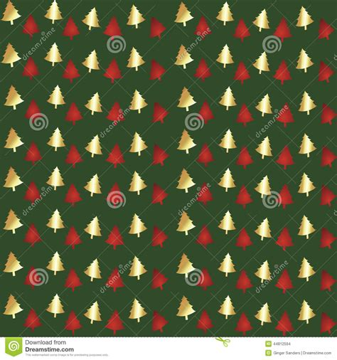 christmas pattern repeat green foil christmas tree seamless background pattern