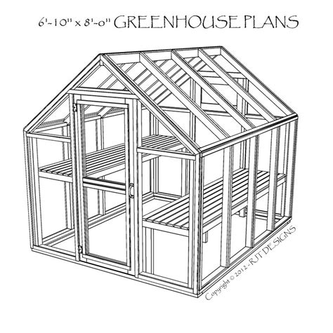 Green Housing Plans by 6 10 X 8 0 Greenhouse Plans Printed