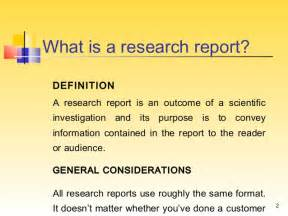Define Report Writing In Research writing a research report