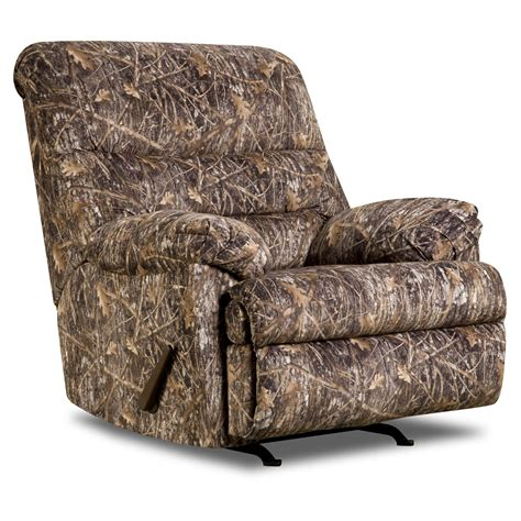camo recliner chairs simmons upholstery conceal camo recliner brown