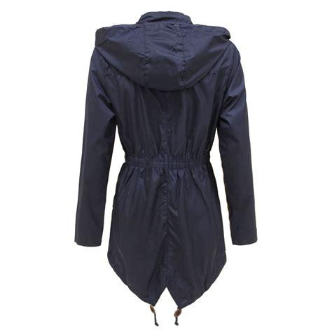 Jaket Parka Abuabu Pink Bb new womens plain parka mac hooded waterproof