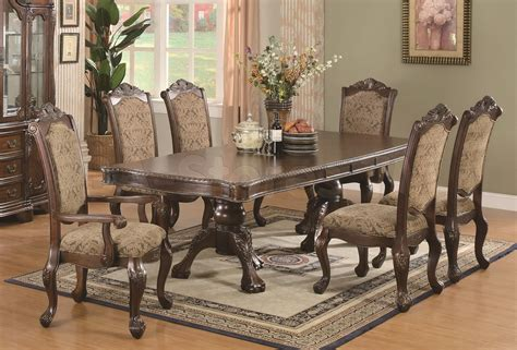 7 piece round dining table set used dining table chairs home decorations idea