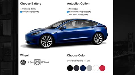 tesla model 3 autopilot cost tesla model 3 cost estimator computes actual cost after