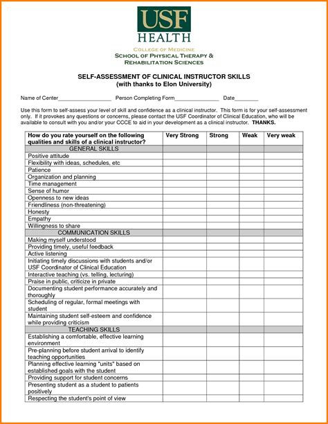 Assessment Template It Assessment Template Download Your Free Best Practice Risk Assessment Excel Skills Assessment Template