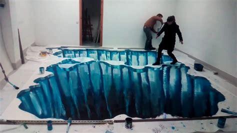 Imagenes 3d En El Suelo | graffiti dibujo 3d en el suelo hielo youtube