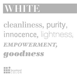white color meaning words that describe white sensational color
