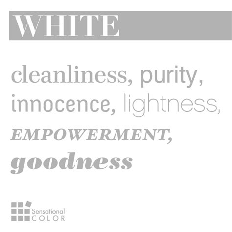 words that describe white sensational color