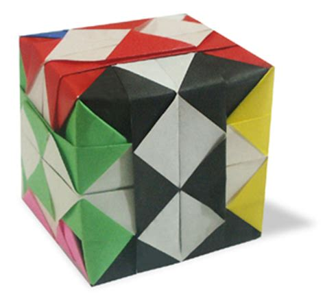 Easy Origami Cube One Paper - origami check cube