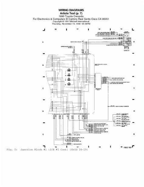 wiring diagrams 1990 toyota get free image about