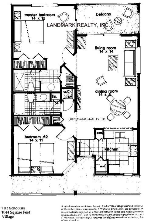 Floor Plan Flat ocean village club condos at st augustine beach floorplan