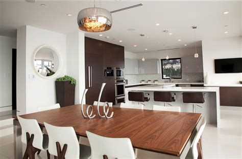 floating island kitchen bench with recessed downlights modern style house la design by modify your space