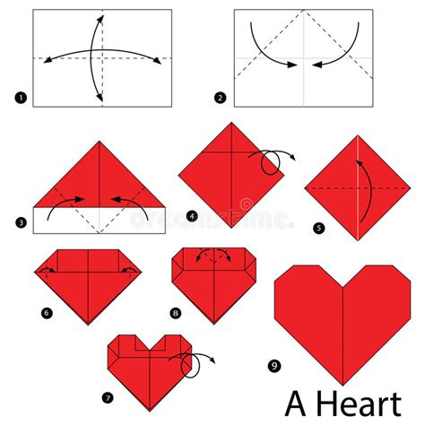 How To Make Paper Hearts Step By Step - step by step how to make origami a