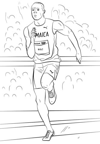 usain bolt coloring page | free printable coloring pages