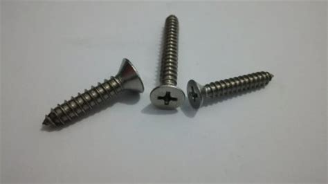 tapping csk flat skrup jf ss304 eonefastener