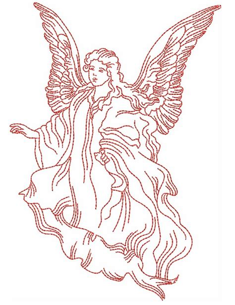 embroidery design angel redwork angels designs machine embroidery designs by sew