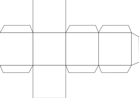 hexahedron template file foldable hexahedron blank svg wikimedia commons