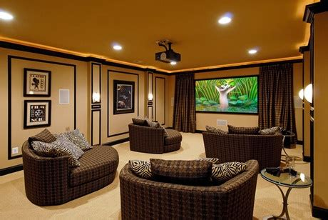 media room chaise lounges love the chaise lounge idea media home theater rooms
