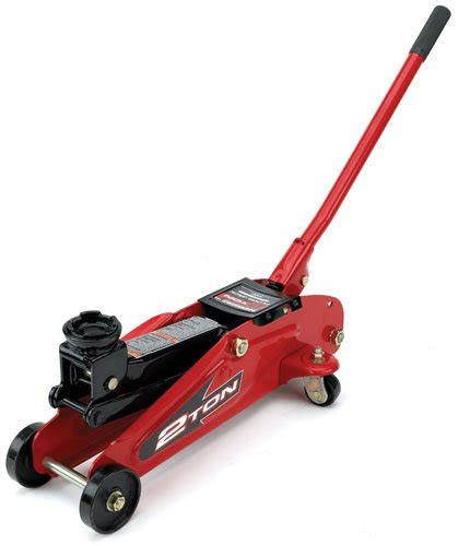 rotary floor jacks powerbuilt 640181 garage 2 ton trolley