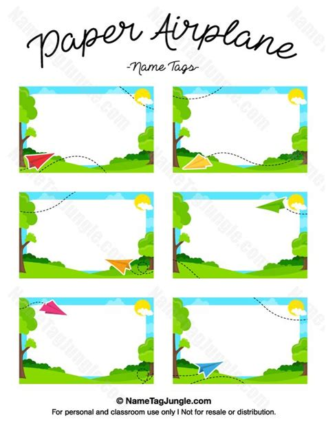 paper airplane place card template 268 best images about name tags at nametagjungle on