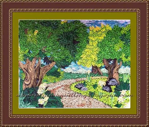 Journey To The World Of Plants Essay by A Journey Into Quilling Paper Crafting Quilled Nature Landscape Picture A Walk Through The