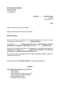 Sample Cover Letter: Modele De Lettre D'autorisation