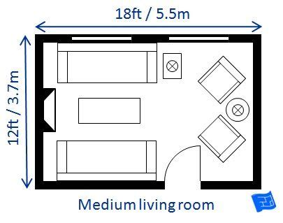 living room size a list of small medium and large living room size
