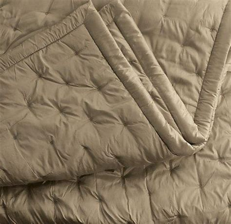 silk quilted coverlet silk dot quilt shams