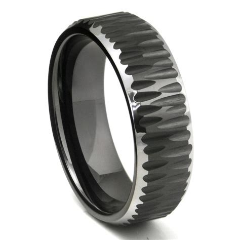 15 Best of Dark Metal Mens Wedding Bands
