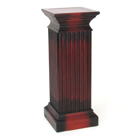 Pedestal Planters For Indoor by Shop Wayborn Furniture 36 In Cherry Indoor Square