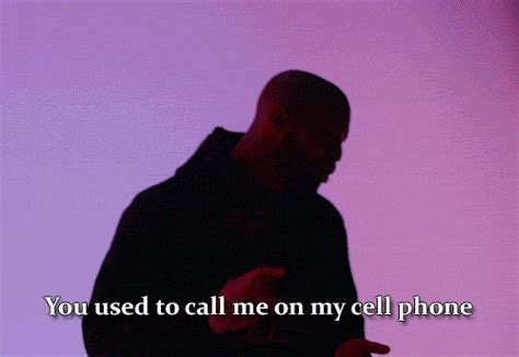 drake used to call me on my cell phone music video love gif find share on giphy