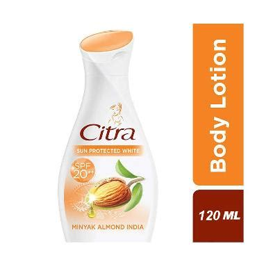 Citra Lotion 120 Ml jual citra and lotion sun protected white spf 20