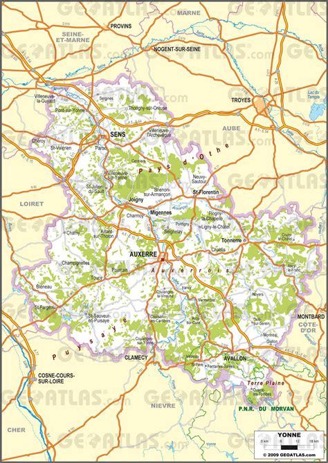 chambre des notaires de l yonne carte de l yonne yonne carte du d 233 partement 89 villes