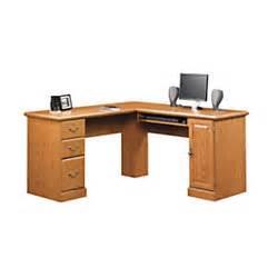 Officemax Small Corner Desk Sauder Orchard Corner Computer Desk Carolina Oak By