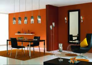 Modern Dining Room Colors by Modern House Modern Dining Room In Orange Color