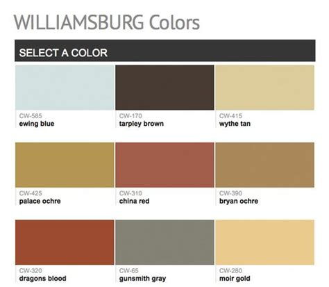 williamsburg paint colors paints from hirshfield s williamsburg colors benjamin