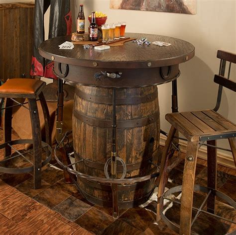 how to a whiskey barrel table outlaw barrel pub table