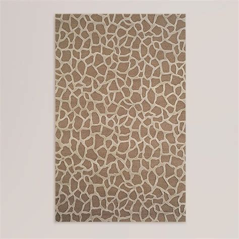 giraffe rug giraffe wool tufted rug taupe world market
