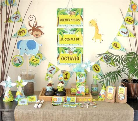 como decorar un salon de selva decoraciones imprimibles de animales de la selva bautizo