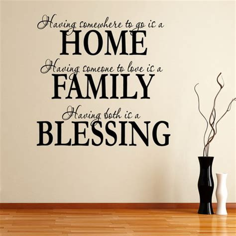 home design quotes family saying wall decal quote