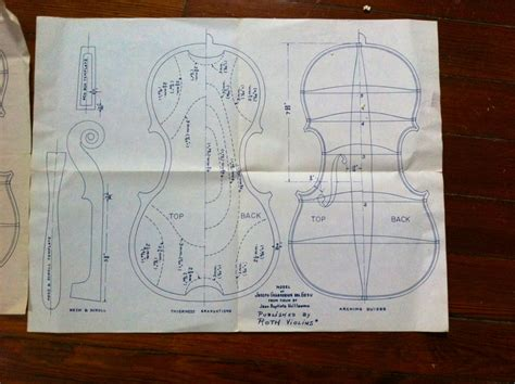 blueprint of a 19th c violin maker s plans 11 x plans quot published by roth violins quot are these things