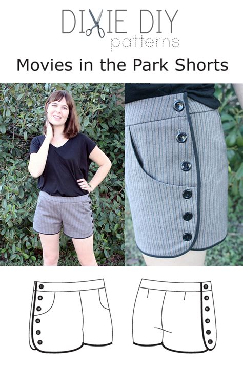 pattern of film review dixie diy d003 movies in the park shorts downloadable pattern