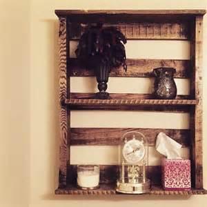 rustic wood bathroom shelves wood bathroom shelves reclaimed rustic pallet wood