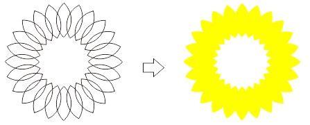wallpaper bunga lingkaran cara membuat bunga matahari dengan coreldraw keripik citul