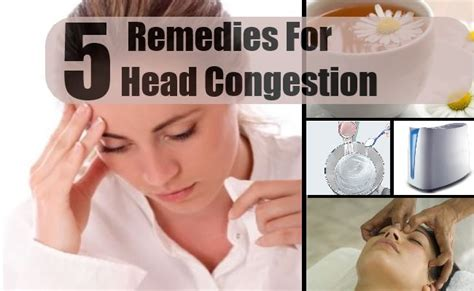 congestion home remedies treatments and cure