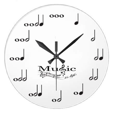 Chevron Wall Stickers musical note wall clock eatlovepray