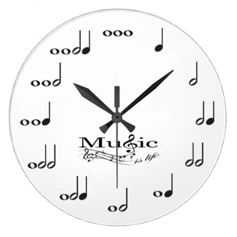 Musical note wall clock eatlovepray
