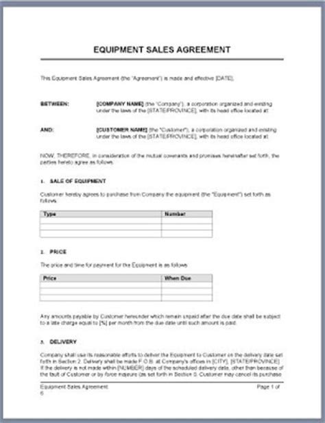 Letter Of Agreement For Sale Business Letter Let Your Problems Be Ours Sle Letter Equipment Sales Agreement
