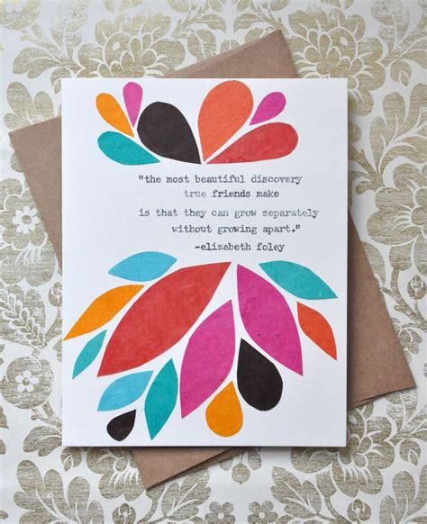 Handmade Birthday Cards For Friends - birthday card handmade greeting card friendship quote
