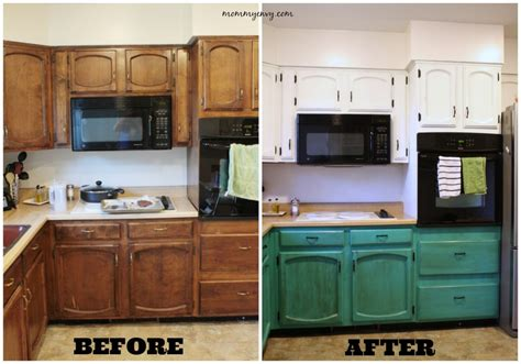 before and after painted kitchen cabinets painting kitchen cabinets part 2
