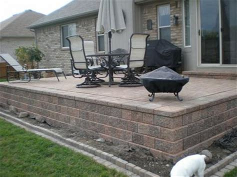 Brick Paver Designs Brick Paver Patios Raised Brick Paver How To Build A Raised Paver Patio